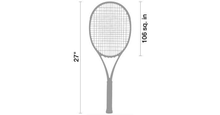 Wilson Federer Adult Strung Tennis Racket in the use