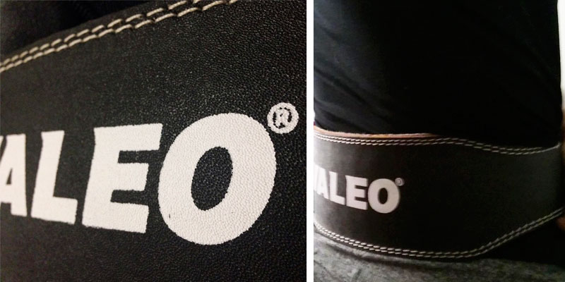 Valeo Leather Weight Lifting Belt in the use