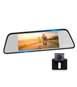 AUTO-VOX DVR-M8 Touch Screen Mirror Dash Cam (Front 1296p & Rear View)