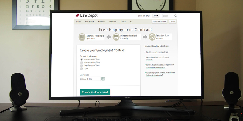 LawDepot Employment Forms in the use