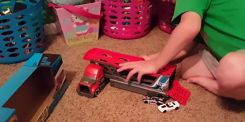 Hot Wheels City Blastin' Rig Toy Cars in the use