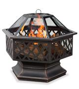 UniFlame Hex Shaped Outdoor Fire Pit