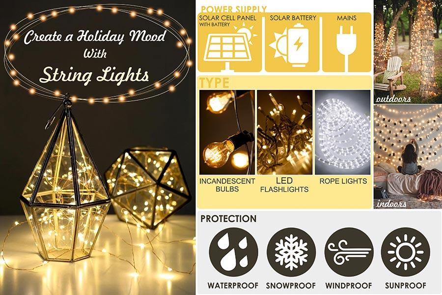 Comparison of String Lights to Use Indoors and Outdoors