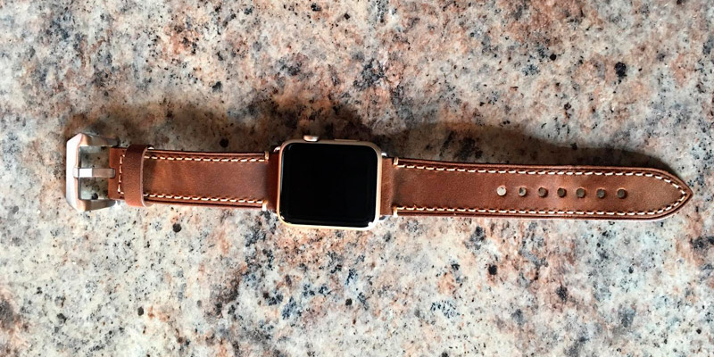 Detailed review of Mkeke Leather Apple Watch Band