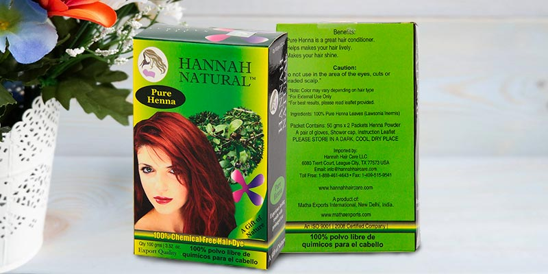Review of Hannah Natural Pure Henn 100% chemical free all natural herbal henna