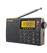 C.Crane FBA_SKWV AM, FM, Shortwave, Weather and Airband Portable Travel Radio with Clock and Alarm