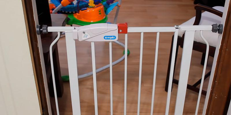 Regalo Easy Step Walk Thru Child Gate in the use