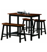 Crown Mark Bar Counter Height Table Set