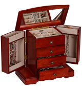 Mele & Co 0041311 Harmony Wooden Musical Jewelry Box