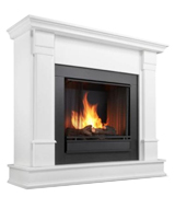 Real Flame G8600W Silverton Gel Fireplace in White