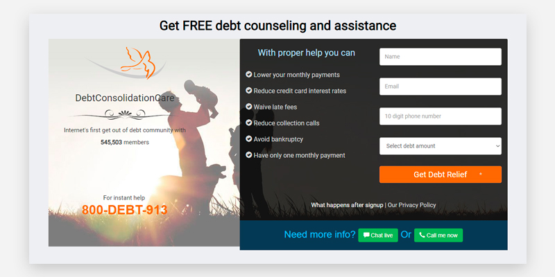Review of DebtCC Debt Consolidation Service