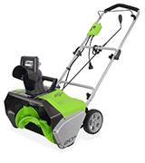 GreenWorks 2600202 Corded Snow Thrower With Light Kit