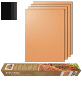 Atiyoc set of 4 Copper Grill Mat