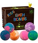 Sky Organics Organic Essential Oil Kids Bath Bombs Gift Set with Surprise Toys