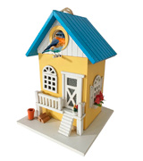 Cartman BH001 Colored Country Cottages Bird House