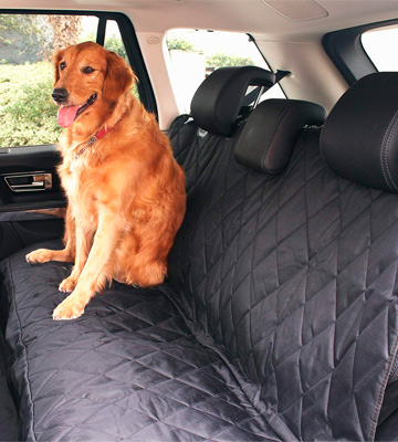 Review of BarksBar Luxury Pet Car Seat Cover with Seat Anchors for Cars, Trucks, and Suv's