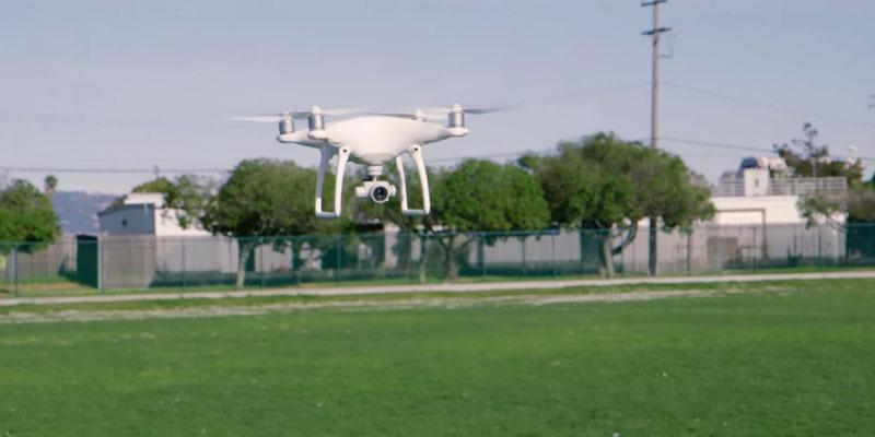 DJI Phantom 4 Quadcopter in the use