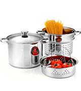 Cook N Home 4 Qt. Double Boiler and Steamer Set