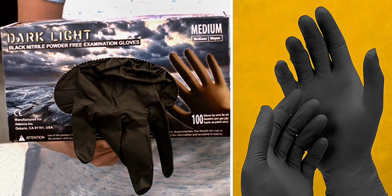 Review of Adenna DLG675 Black Nitrile Powder Free Exam Gloves