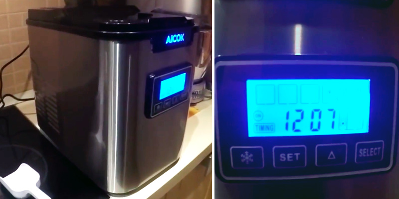 Review of Aicok 005C Countertop Ice Machine with Self-clean Function