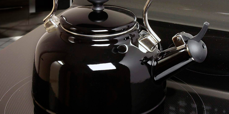 Chantal 37-VINT BK Enamel on Steel Vintage Teakettle Black 1.7 quart