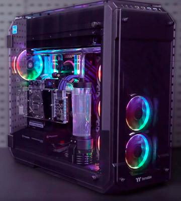 Review of Thermaltake CA-1I7-00F1WN-01 View 71 RGB 4-Sided Full Tower Computer Case Tempered Glass