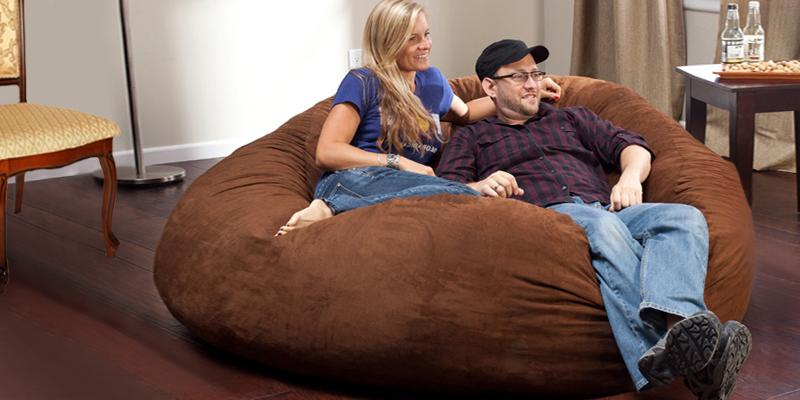 Big Joe Black Onyx XL Bean Bag Chair in the use