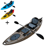 Brooklyn Kayak Company BKC RA220 11.6 Single Fishing Kayak