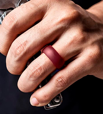 Review of ThunderFit Breathable Airflow Inner Silicone Wedding Rings for Men