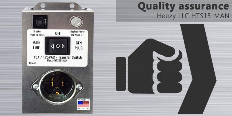 Heezy LLC HTS15-MAN Generator Transfer Switch application