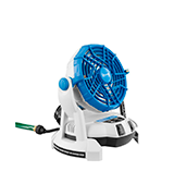 Arctic Cove MBF0181 Bucket Top Misting Fan (18-Volt Battery Powered)
