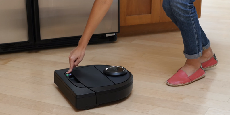 Neato Robotics Botvac D5 Connected Navigating Robot Vacuum in the use