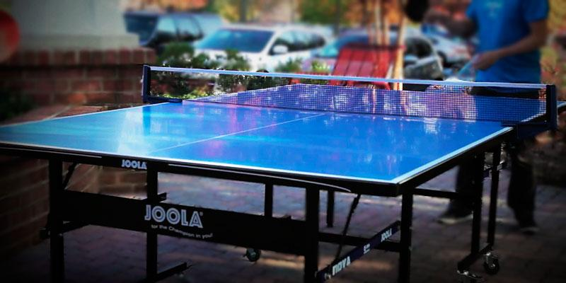 JOOLA Inside Table Tennis Table with Net Set in the use