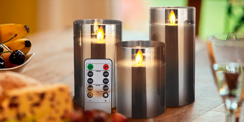 Review of Yinuo Timer Remote Glass Effect Flameless Led Candles