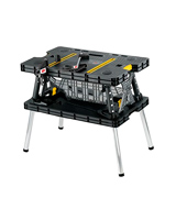 Keter 197283 Folding Compact Workbench with Clamps (1000 lb Capacity)