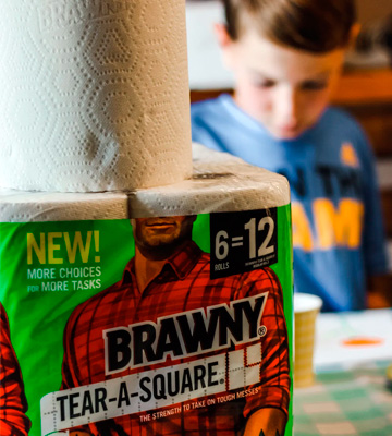 Review of Brawny Tear-A-Square 3 Sheet Size Options