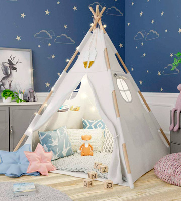 Review of TazzToys Waterproof Base Kids Teepee Tent