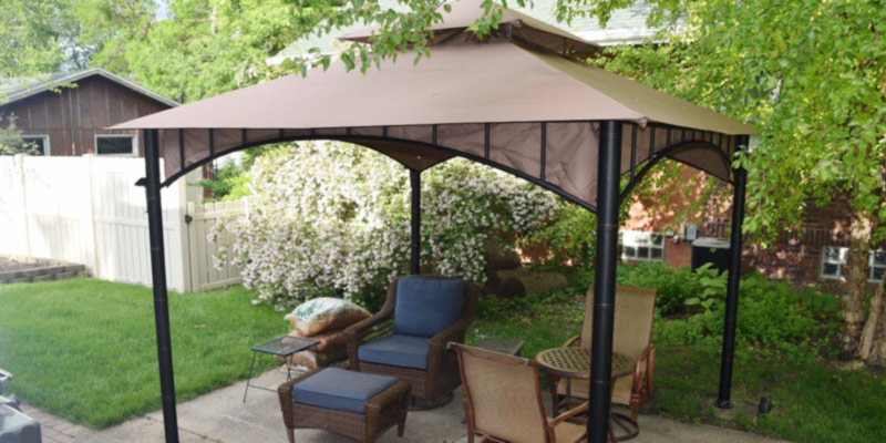 Review of Sunjoy D-GZ136PST-N 10'x10' Soft Top Gazebo for Sun Shade or Grilling