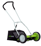 GreenWorks 25052 Reel Lawn Mower with Grass Catcher