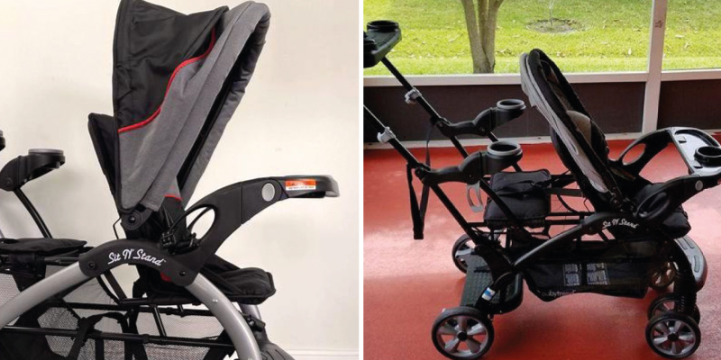 Baby Trend Sit N Stand Ultra Stroller in the use