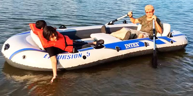 Review of Intex Excursion 5 with Aluminum Oars and High Output Air Pump & 5 Best Inflatable Boats Reviews of 2018 - BestAdvisor.com