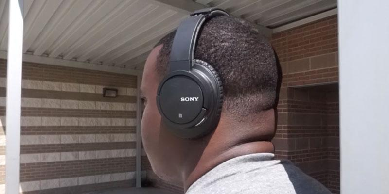 Sony MDR-ZX770DC Noise Canceling Headphones in the use
