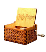 Crafts Ninja Hedwig Theme Harry Potter Hand Engraved Wooden Music Box
