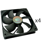 Cooler Master R4-S2S-124K-GP Sleeve Bearing 120mm Silent Fan for Computer Cases, CPU Coolers, and Radiators (Value 4-Pack)