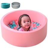 LANGXUN Macaron Pink Kids Ball Pit Playpen for Baby