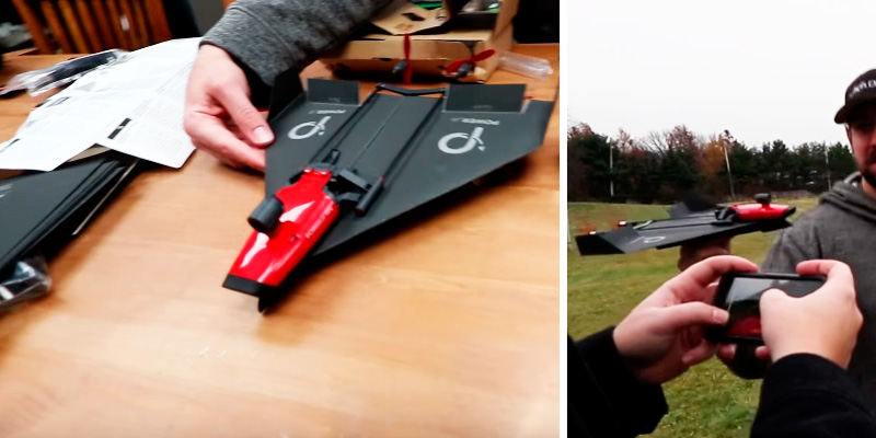 PowerUp FPV Paper Airplane VR Drone Model Kit in the use