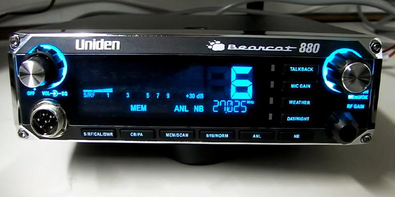 Uniden Bearcat 880 CB Radio in the use