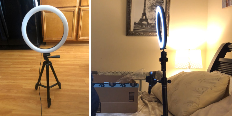 "Review of Aptoyu 12"" Selfie Ring Light with Tripod Stand"