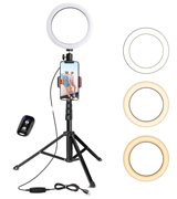 UBeesize 8 Selfie Ring Light with Tripod Stand & Cell Phone Holder
