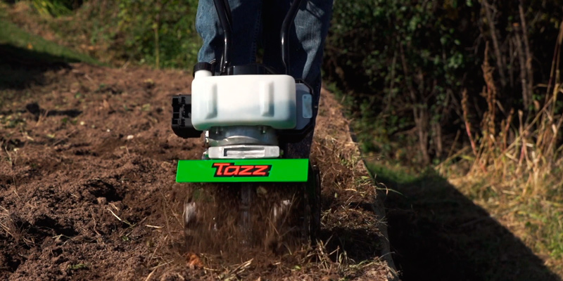 TAZZ 35351 33CC Viper Mini Cultivator, Green in the use